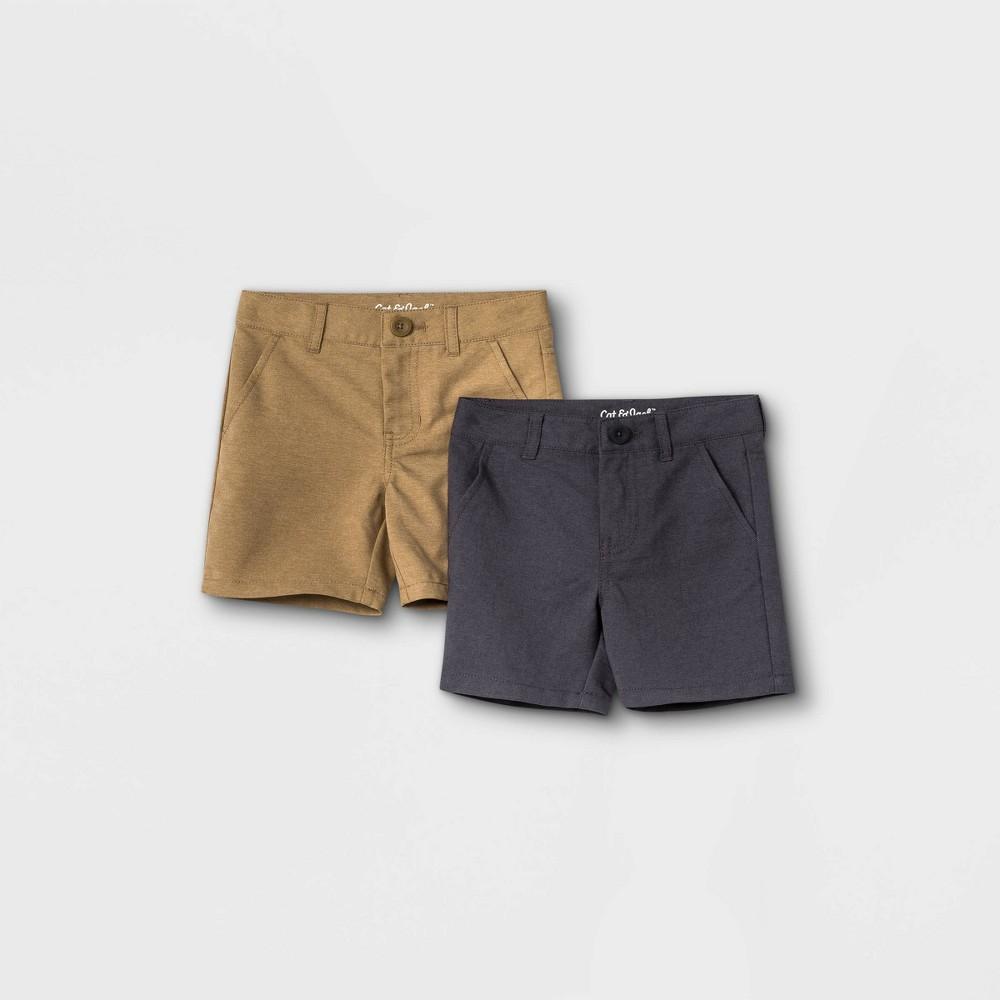 Toddler Boys 39 2pk Quick Dry Woven Chino Shorts Cat 38 Jack 8482 Black Khaki 18m
