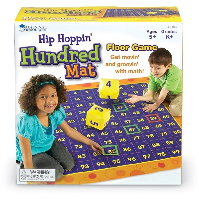 Learning Resources Hip Hoppin' Hundred Mat Floor Game, Ages 5+