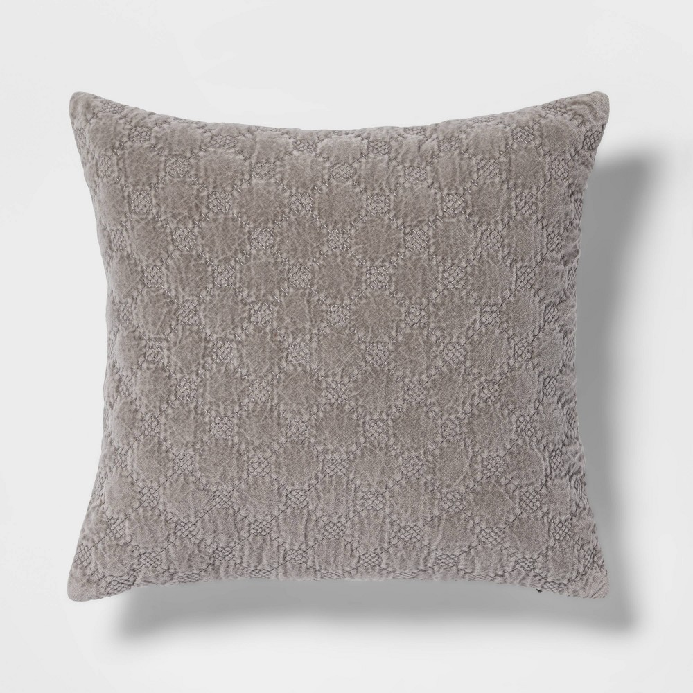 Discounts Square Velvet Embroidered Decorative Throw Pillow - Threshold™