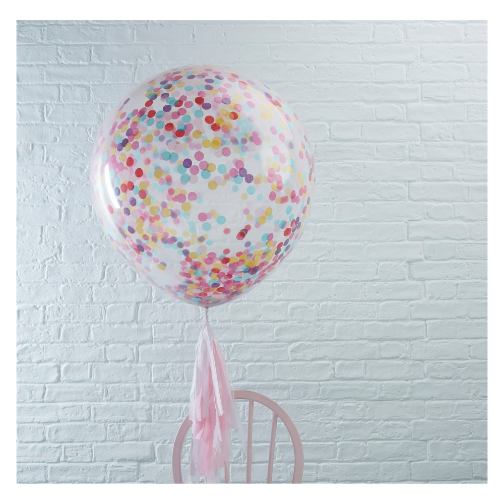 Image of 3ct Large Confetti Filled Balloons