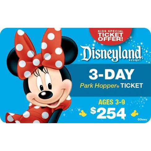Disneyland Resort 3-Day Park Hopper Ticket Ages 3-9 $254 (Email Delivery) - image 1 of 1