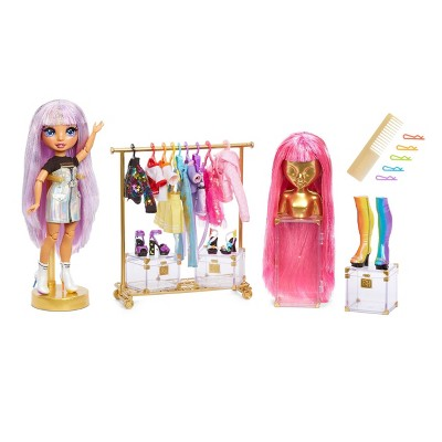 Rainbow High Fashion Studio with Free Exclusive Doll and Rainbow of Fashions and 2 Sparkly Wigs