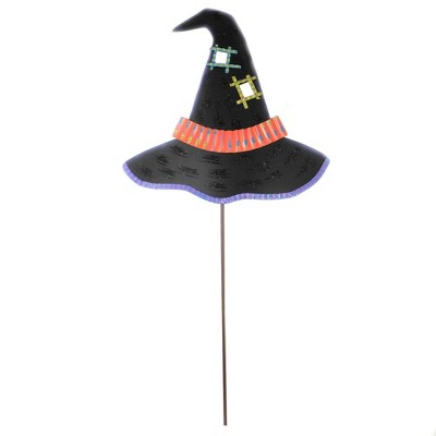 """Halloween 37.0"""" Witch Way Hat Spooky Hang Or Stake  -  Decorative Garden Stakes"""