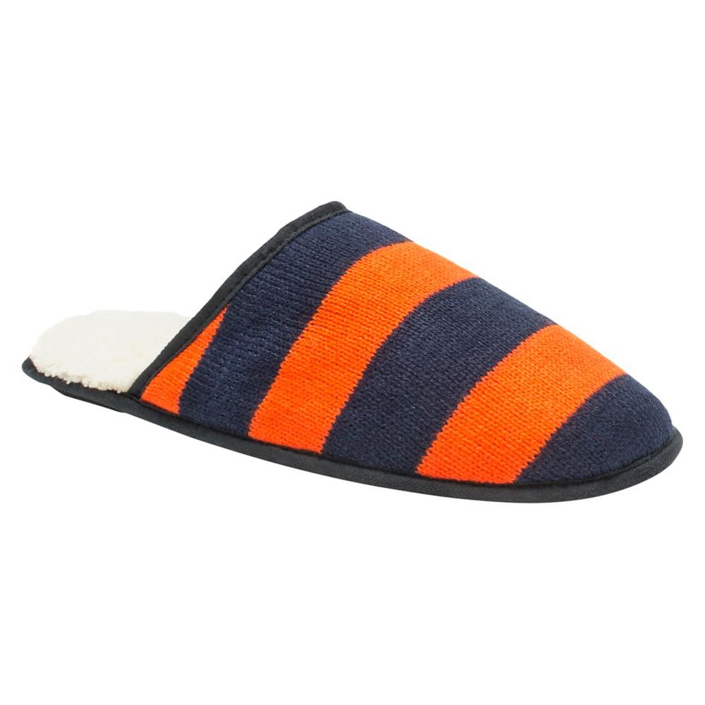 Men's Muk Luks Game Day Scuffs - Navy/Orange M