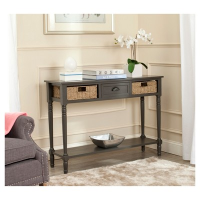 Caguas Console Table With Baskets Gray   Safavieh® : Target