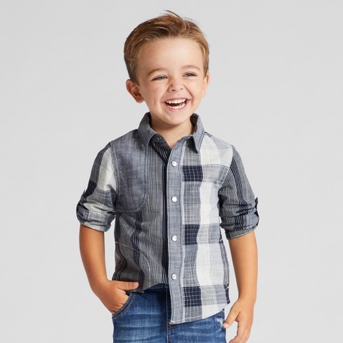 Toddler Boys' Button-Down Shirts Genuine Kids® from OshKosh - Black - image 1 of 5
