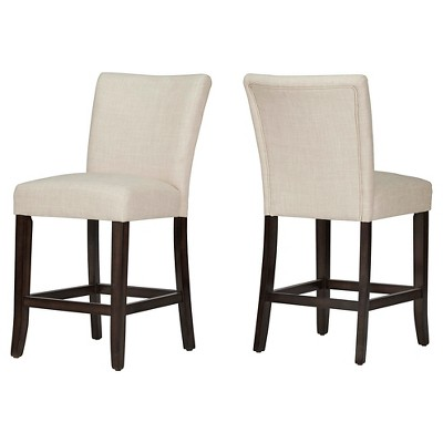 """Set of 2 24"""" InspireQ Quinby Counter Stool - Oatmeal"""