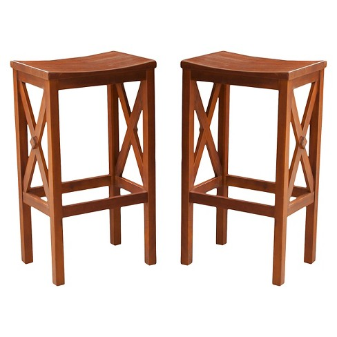 "Nigel 30"" Barstool Brown Mahogany (Set of 2) - Christopher Knight Home - image 1 of 4"