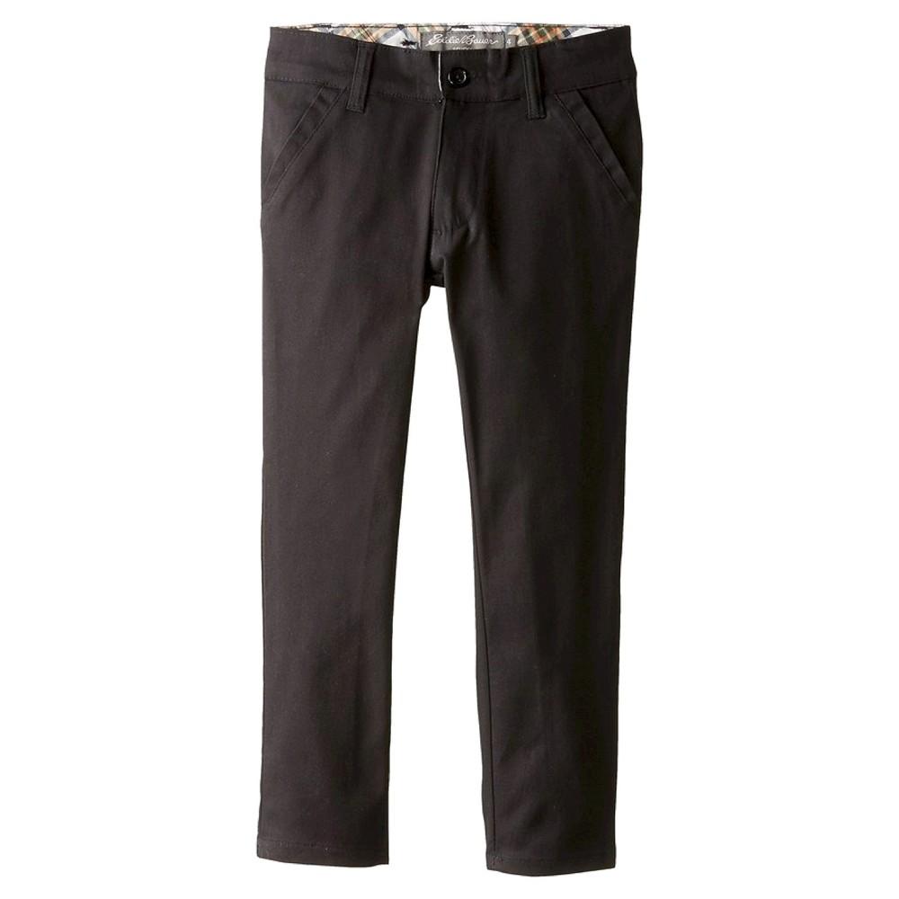 Eddie Bauer Girls' Stretch Skinny Uniform Chino Pants - Black 8