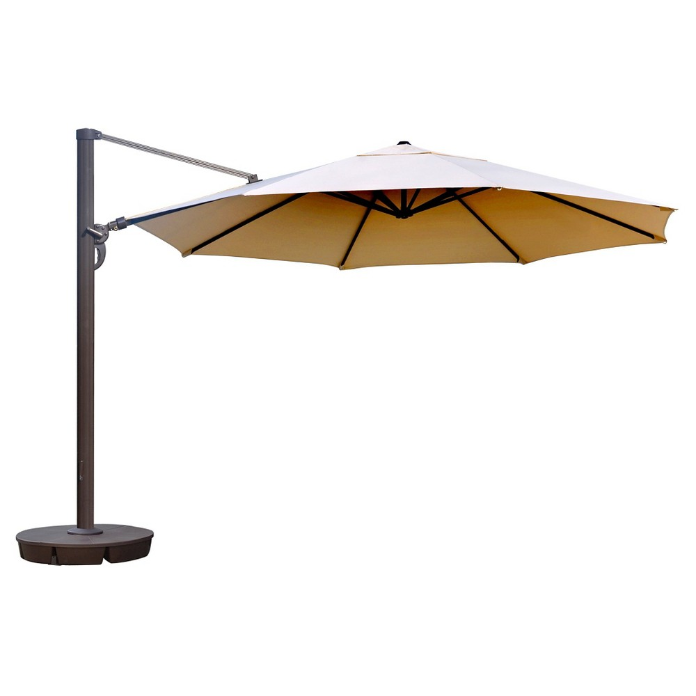 Island Umbrella Victoria 13' Octagonal Cantilever in Beige Sunbrella