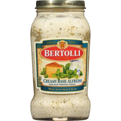 Bertolli Creamy Basil Alfredo Pasta Sauce - 15oz