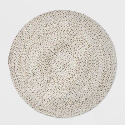 3' Braided Round Rug White - Pillowfort™