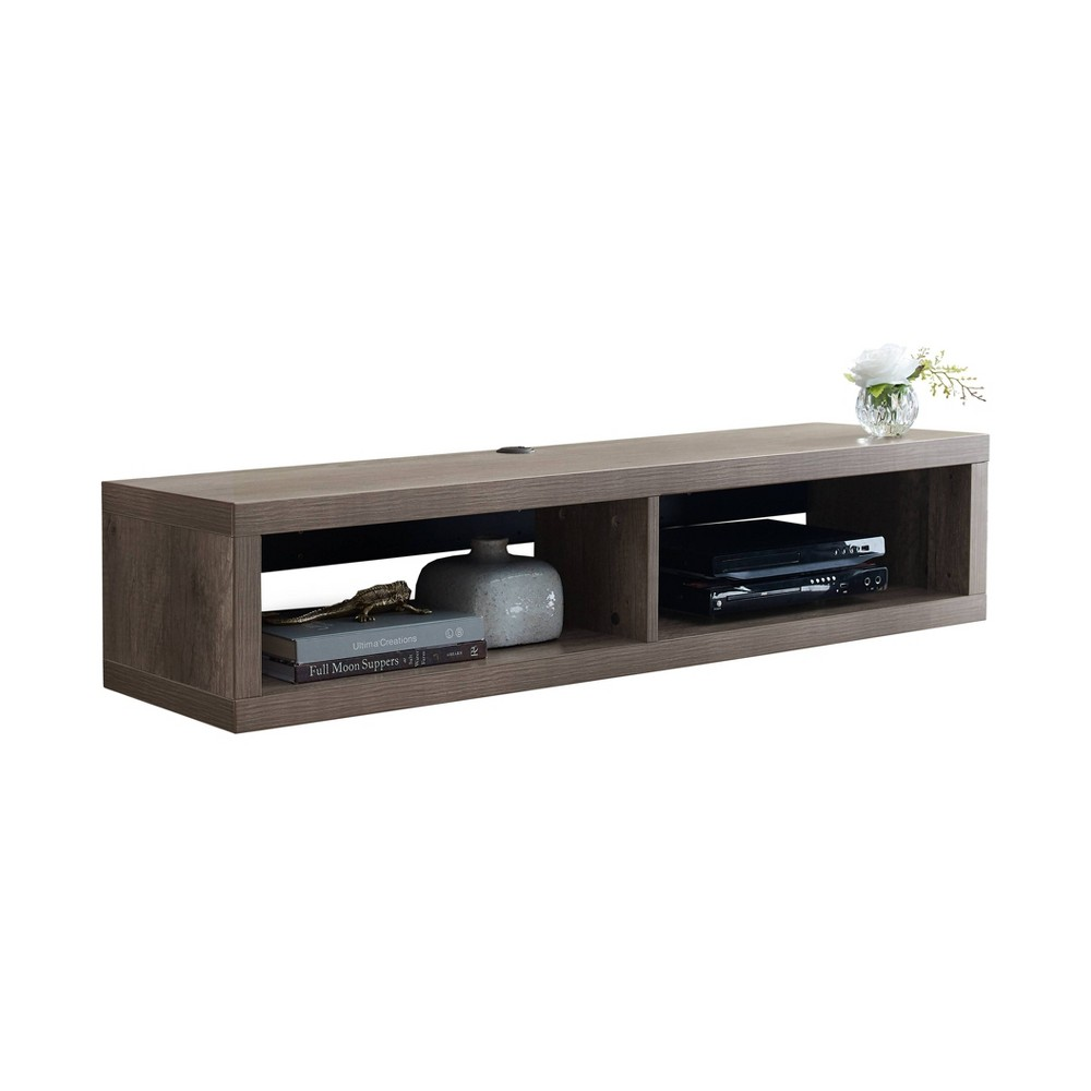 "Image of ""48"""" Wall Mounted Media Console Nut Brown - Martin Furniture, Size: 48"""""""