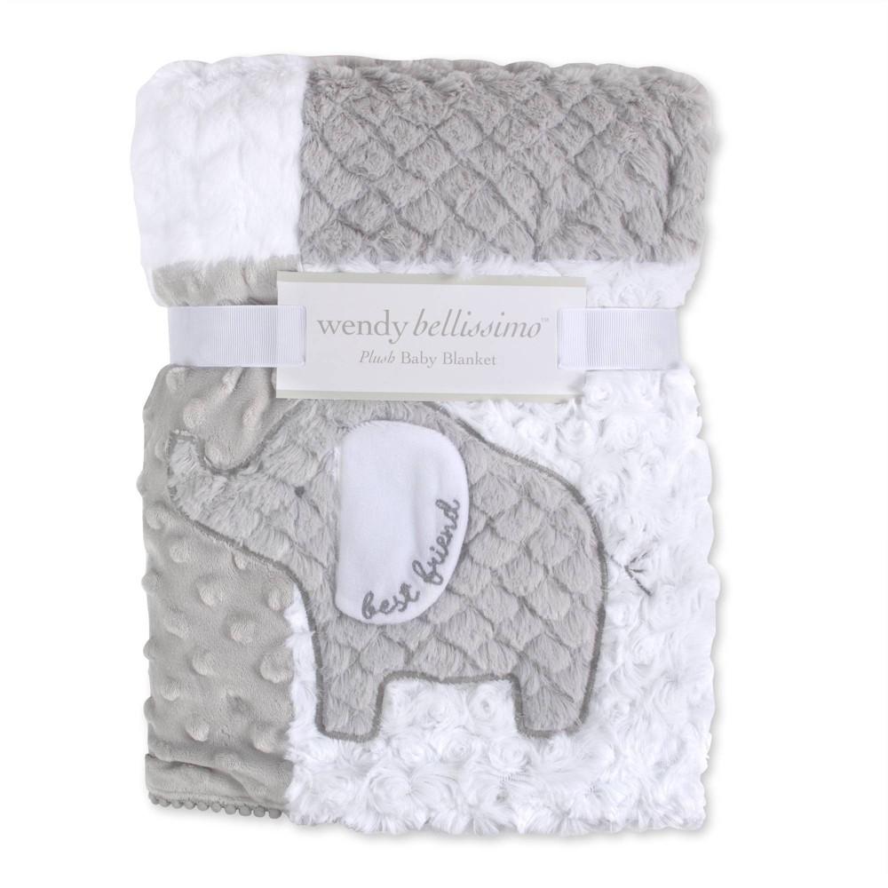 Image of Wendy Bellissimo Elephant Textured 2 Ply Plush Blanket