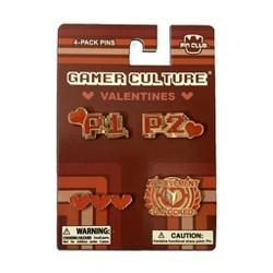 Pin Club Gamer Culture Valentines 4-Pack Pin Set