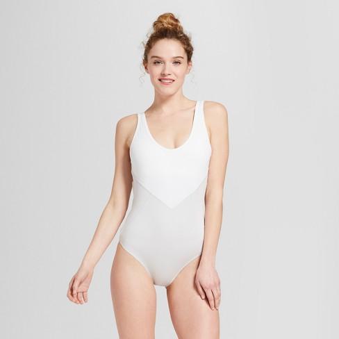 Women's Shine Dance Bodysuit - JoyLab™ Tech Gray/White - image 1 of 2