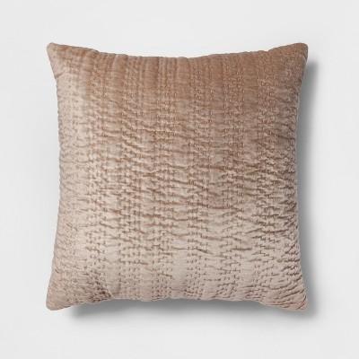 Textured Velvet Oversize Square Throw Pillow Neutral - Opalhouse™