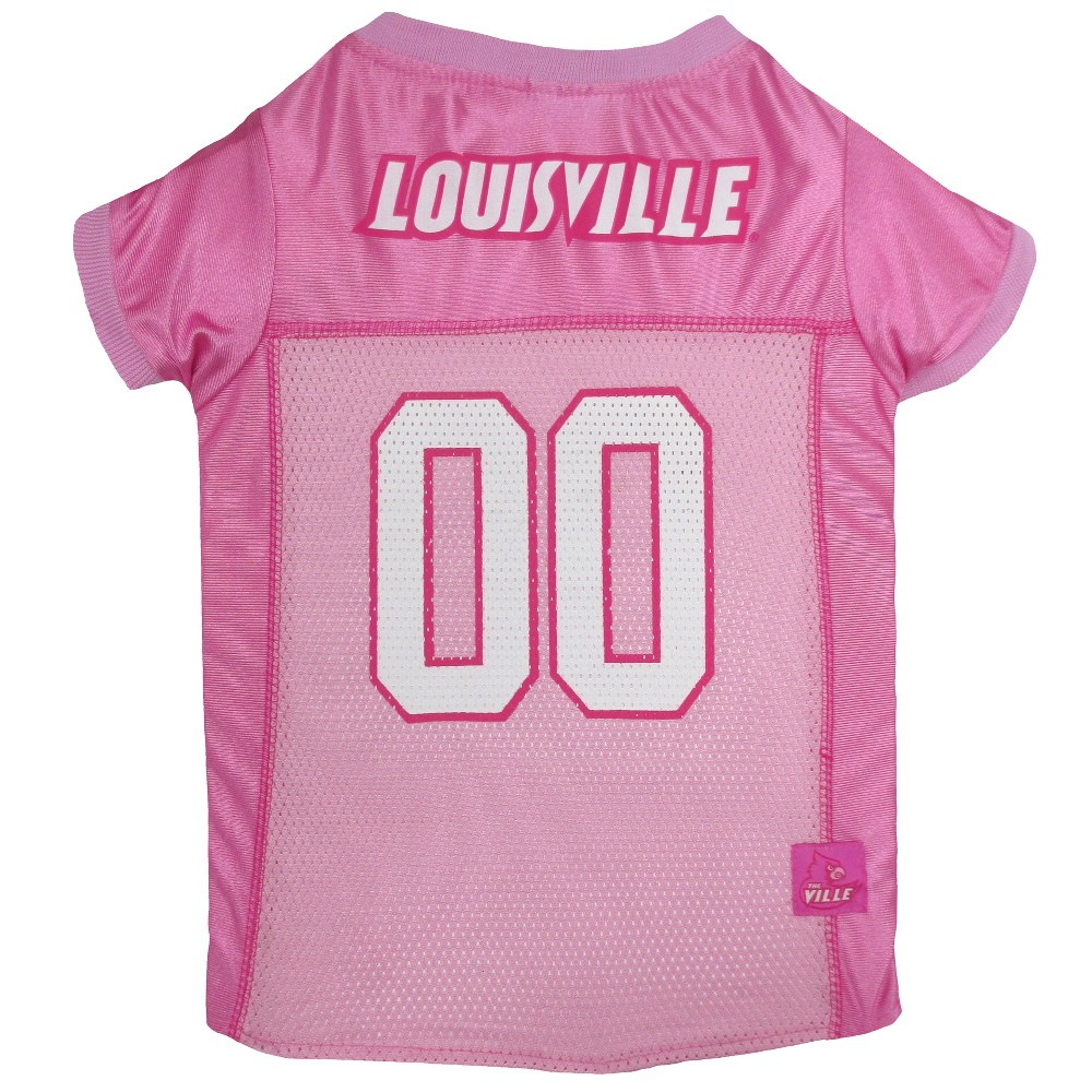 Pets First Louisville Cardinals Pink Jersey - XS, Multicolored