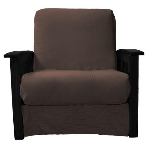 Craftsman Perfect Futon Sofa Sleeper Black Wood Finish Sit N Sleep