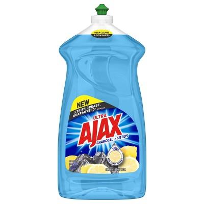 Ajax Ultra Liquid Dish Soap - Charcoal and Citrus - 52 fl oz