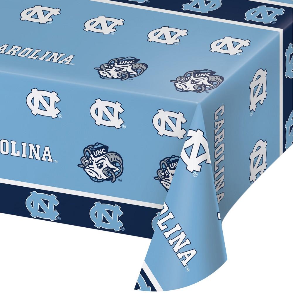 NCAA North Carolina Tar Heels Plastic Tablecloth