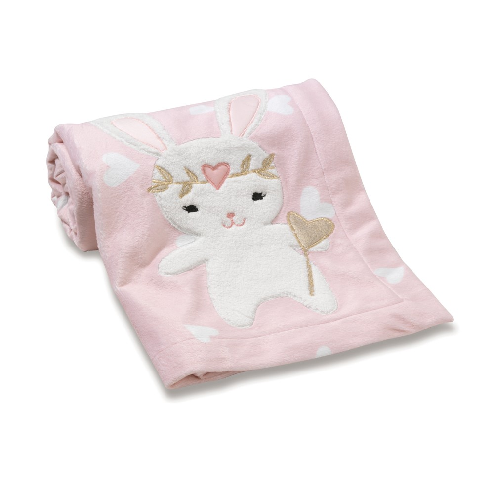 Image of Lambs & Ivy Confetti Blanket - Pink, White Pink Gold