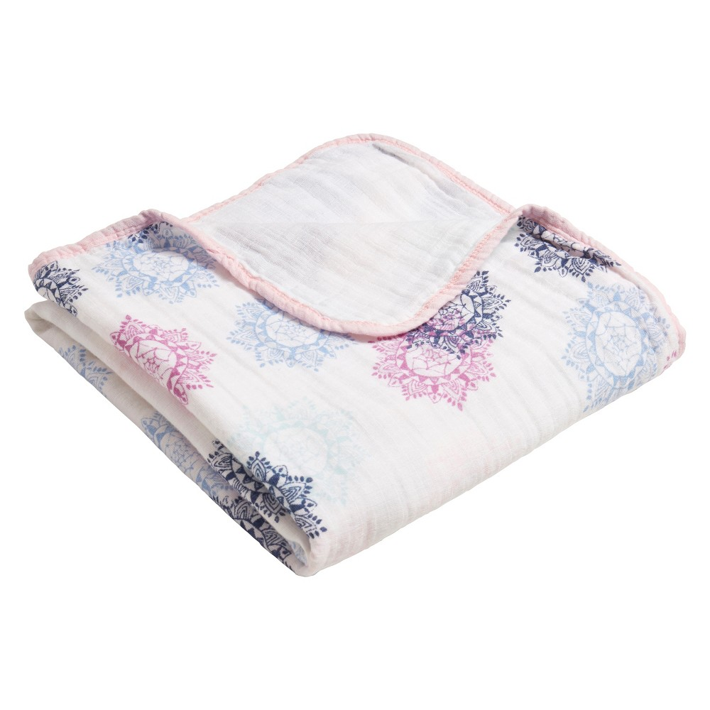 Image of Aden by Aden + Anais Stroller Blanket - Pretty Pink