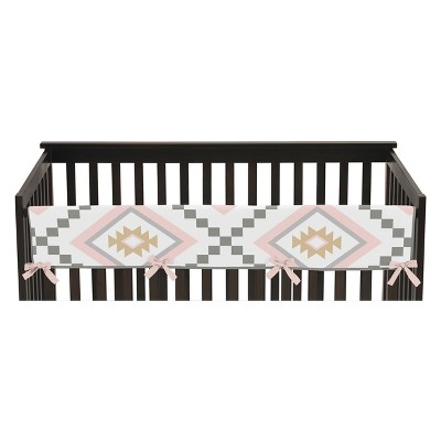 Sweet Jojo Designs Long Crib Rail Guard Cover - Aztec