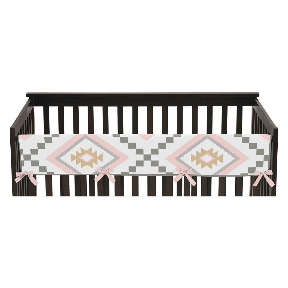 Sweet Jojo Designs Long Crib Rail Guard Cover - Aztec