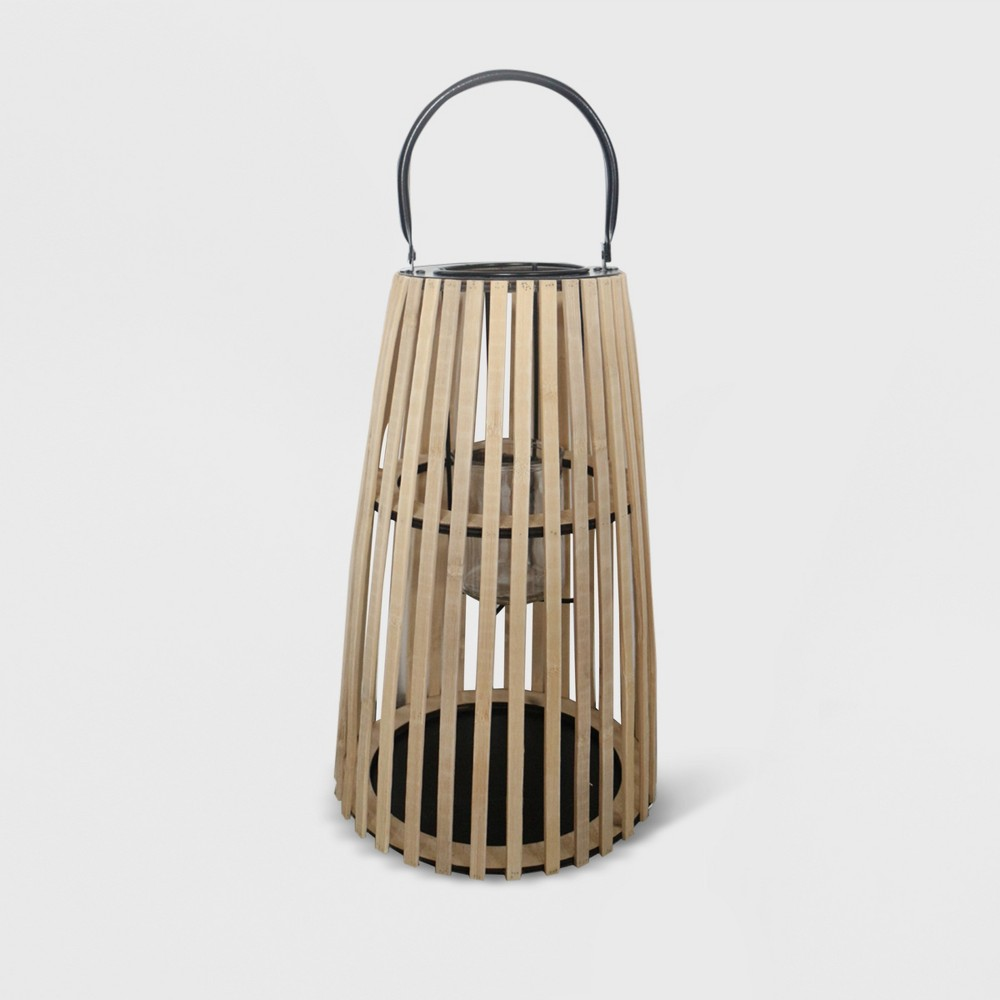 "Image of ""15"""" Taper Outdoor Lantern Natural - Opalhouse"""