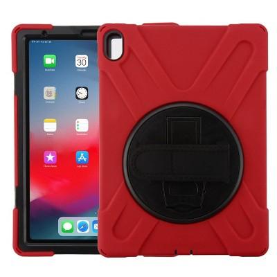 "MYBAT For Apple iPad Pro 11"" (2018) Red Rotatable Stand Hard TPU Hybrid Case Cover"