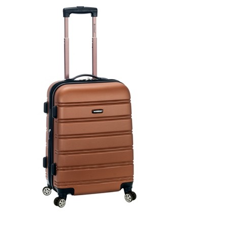 """Rockland Melbourne Expandable ABS Suitcase - Brown (20"""") - image 1 of 2"""