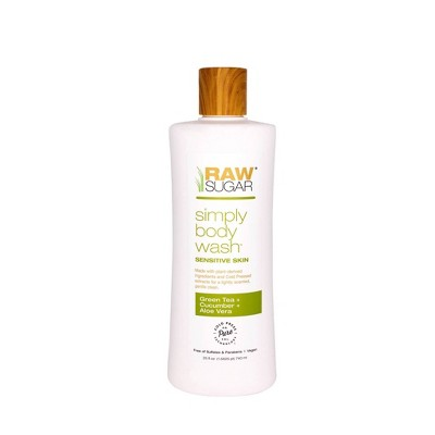 Raw Sugar Green Tea + Cucumber + Aloe Vera Sensitive Skin Simply Body Wash - 25 fl oz