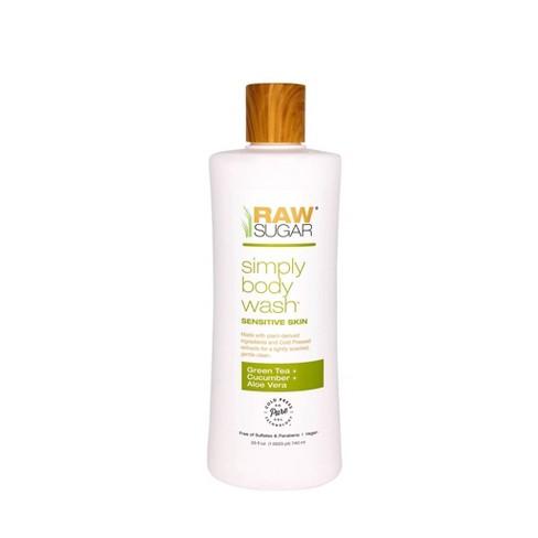 Raw Sugar Skin Green Tea + Cucumber + Aloe Vera Sensitive Body Wash - 25 fl oz - image 1 of 4