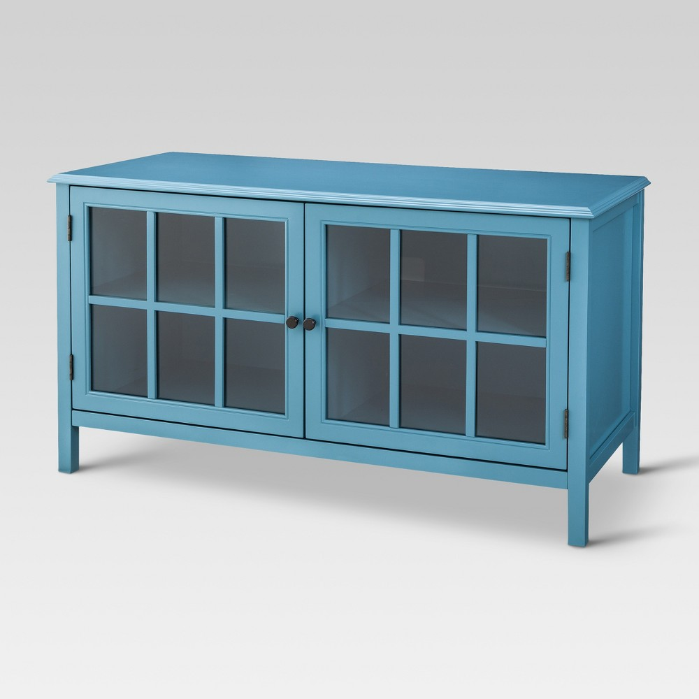 Windham TV Stand Teal (Blue) - Threshold
