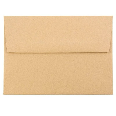 JAM Paper A6 Passport Invitation Envelopes 4.75 x 6.5 Ginger Brown Recycled 11179