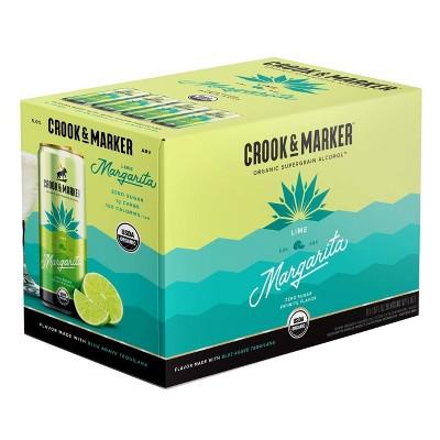 Crook & Marker Lime Margarita - 8pk/11.5 fl oz Cans