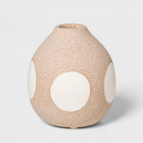 """3.9"""" x 3.5"""" Earthenware Circle Vase Brown/Cream - Project 62™ - image 1 of 4"""