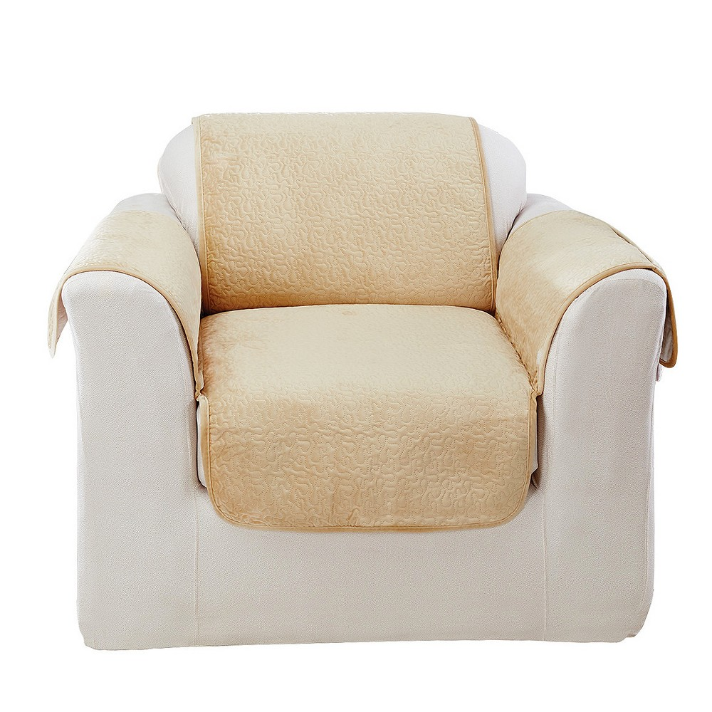 Surprising Elegant Vermicelli Chair Furniture Cover Champagne Beige Machost Co Dining Chair Design Ideas Machostcouk
