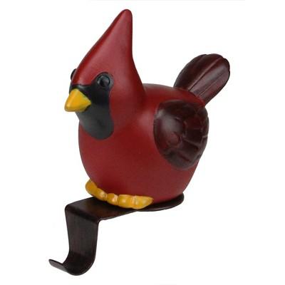 "Northlight 5.5"" Red and Black Sitting Cardinal Bird Christmas Stocking Holder"