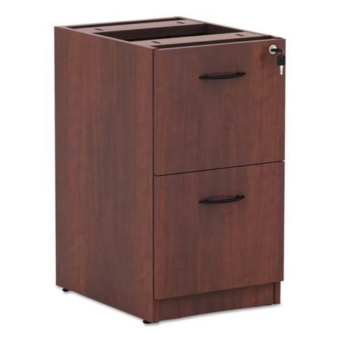 Alera Valencia 2 Drawer File Cabinet Locking Cherry