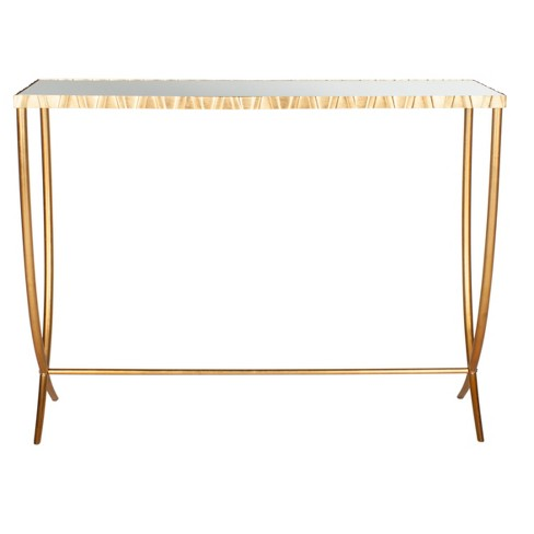 Princess Console Table - Gold/Mirror - Safavieh® - image 1 of 5