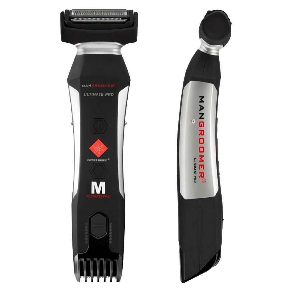 Mangroomer Ultimate Pro Wet & Dry Men's Rechargeable Electric Body Groomer and Trimmer Level up your grooming routine with this Ultimate Pro Wet and Dry Men's Rechargeable Electric Body Groomer and Trimmer from Mangroomer. Powered by a rechargeable battery, this electric trimmer offers two shavers in one piece of equipment. Adjust the trimmer head for detailed grooming of longer hair. Gender: Male.