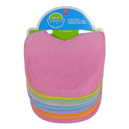 Neat Solutions® 8pk Solid Bib Set - image 1 of 2