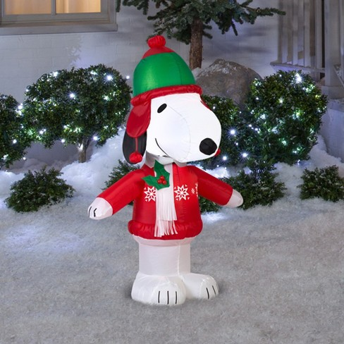peanuts holiday inflatable decoration snoopy in winter wear target