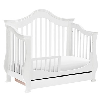 Million Dollar Baby Classic Ashbury 4-in-1 Convertible Crib with Toddler Rail - White