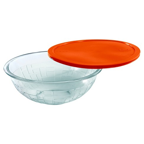 Pyrex 2.5 Quart Brick Textured Bowl - Red - image 1 of 1