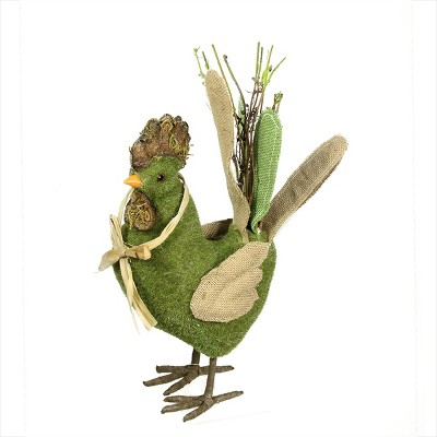 """Northlight 15"""" Green and Brown Decorative Standing Chicken Spring Table Top Figure"""