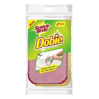 Scotch-Brite Dobie Scrub & Wipe Cloth - 2pk