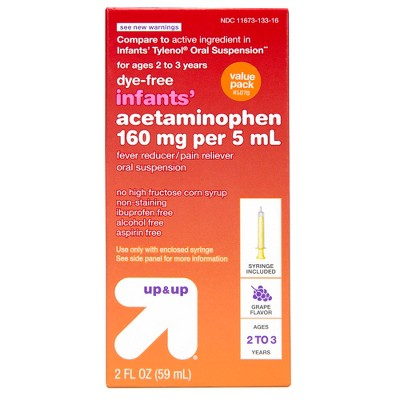 Acetaminophen Twin Pack (Compare to Infants' Tylenol® Oral Suspension)- 4oz - Up&Up™